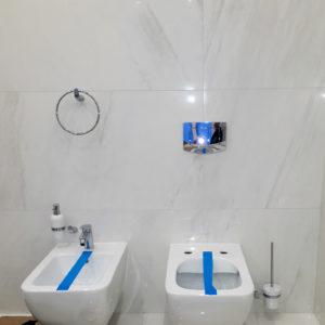 ванная под ключ, установка биде и подвесного унитаза